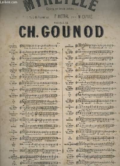 MIREILLE - OPERA EN 3 ACTES POUR PIANO ET CHANT - N°13 : CHANSON DU BERGER.