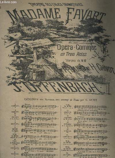 MADAME FAVART N°13 : ROMANCE - PIANO + CHANT.