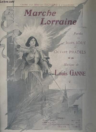 MARCHE LORRAINE - PIANO ET CHANT.