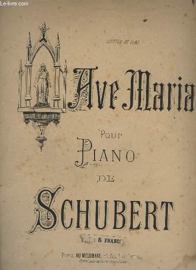 AVE MARIA - POUR PIANO.