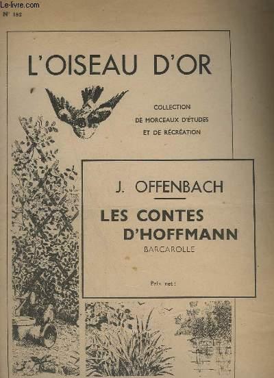 LES CONTES D'HOFFMANN - BARCAROLLE POUR PIANO N°182.