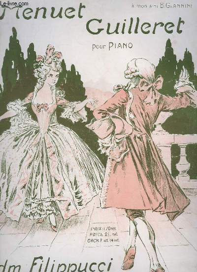 MENUET GUILLERET - POUR PIANO.