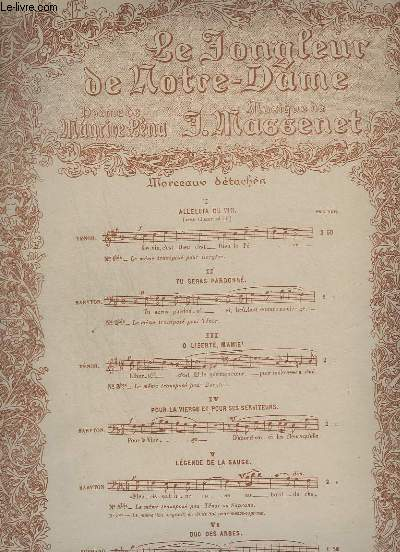 LE JONGLEUR DE NOTRE DAME - N°5 : LEGENDE DE LA SAUGE - PIANO ET CHANT.
