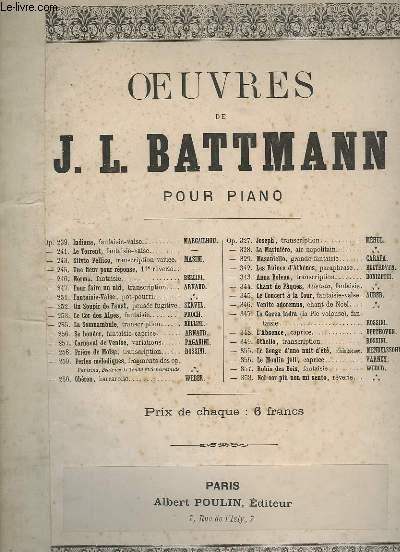 OEUVRES DE BATTMANN J.L. POUR PIANO -  OP.257 : LE CARNAVAL DE VENISE.