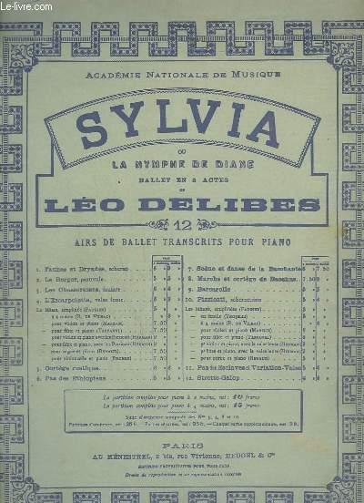 SYLVIA OU NYMPHE DE DIANE - N°10 : PIZZICATI - POUR PIANO.