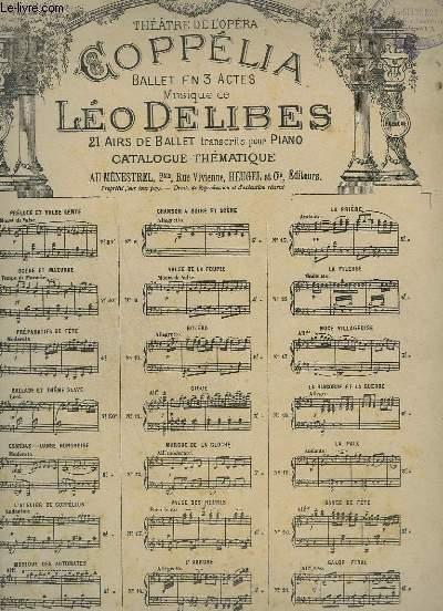 COPPELIA - N°1 : PRELUDE ET VALSE POUR PIANO.