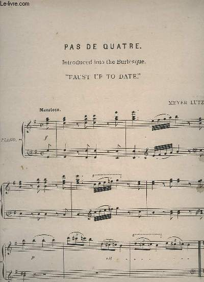 PAS DE QUATRE - FAUST UP TO DATE - PIANO.