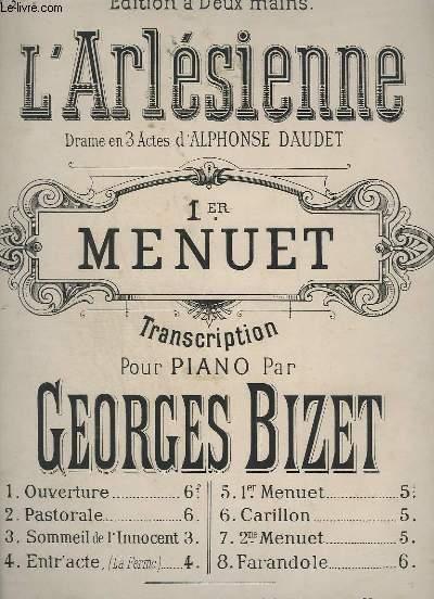 L'ARLESIENNE - 1° MENUET POUR PIANO.