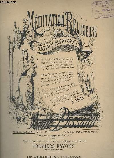 MEDITATION RELIGIEUSE - PIANO ET CHANT.