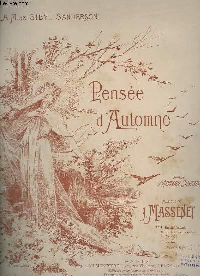 PENSEE D'AUTOMNE - PIANO ET CHANT.