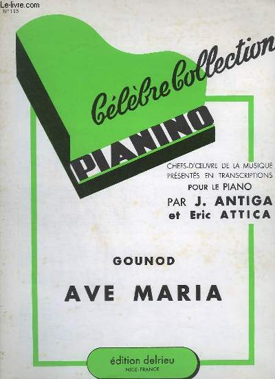 AVE MARIA - COLLECTION PIANINO N°113.