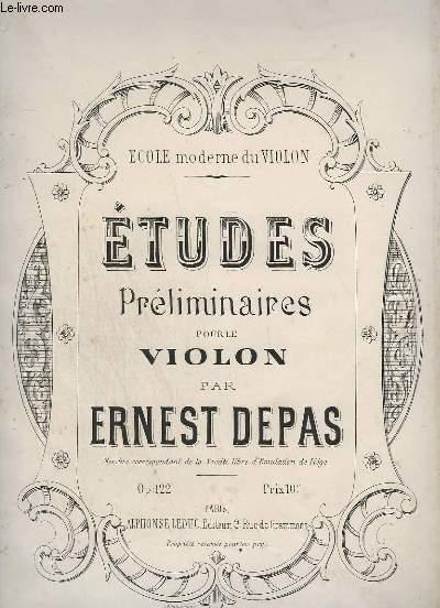ETUDES PRELIMINAIRES POUR LE VIOLON - OP.122.