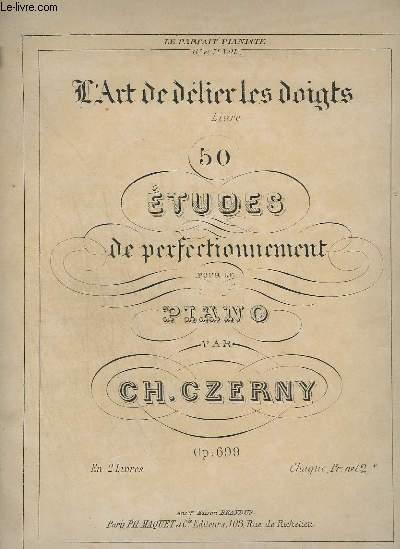 L'ART DE DELIER LES DOIGTS - LIVRE 2 : ETUDE 26 A 50.