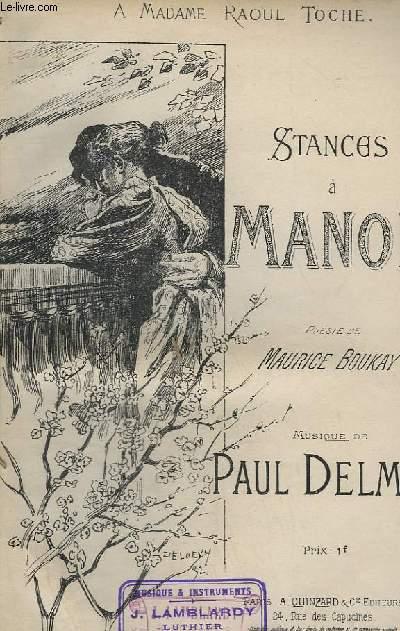 STANCES A MANON - CHANT.