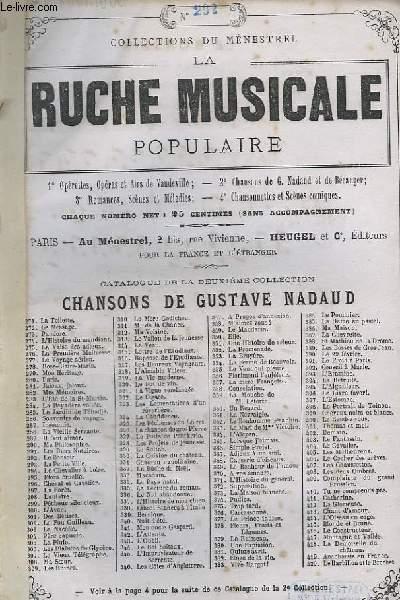 LA RUCHE MUSICALE POPULAIRE N°292 : LE BONSOIR - CHANT ET GUITARE.