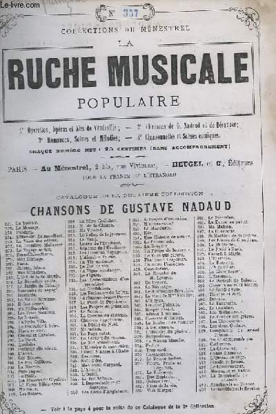 LA RUCHE MUSICALE POPULAIRE N°357 : LA MERE FRANCOISE - GUITARE ET CHANT.
