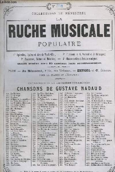 LA RUCHE MUSICALE POPULAIRE N°308 : MA SOEUR - GUITARE ET CHANT.