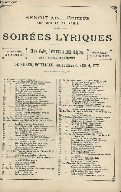 SOIREES LYRIQUES - N°231 : LE TROUVERE - CHANT.