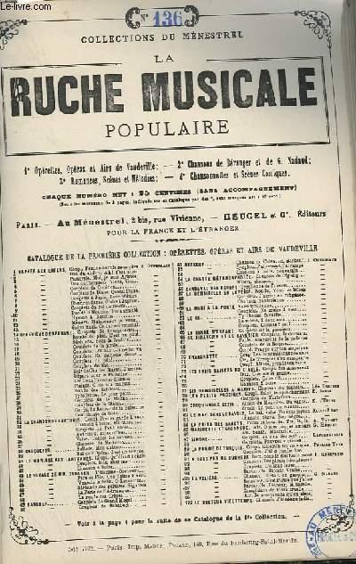 LA RUCHE MUSICALE POPULAIRE - N°136 : HAMLET CHANSON BACHIQUE.