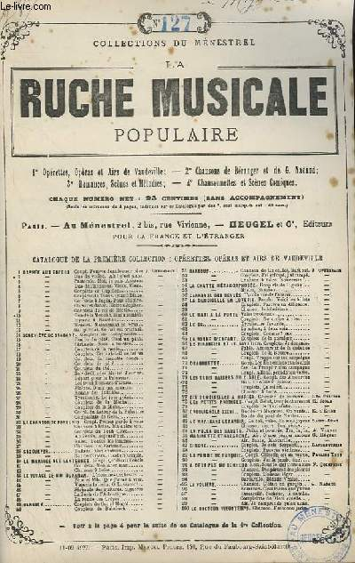 LA RUCHE MUSICALE POPULAIRE - N°127 : MIGNON - GUITARE ET CHANT.