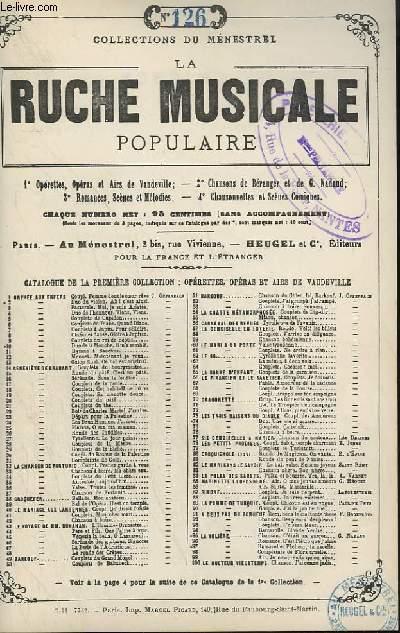 LA RUCHE MUSICALE POPULAIRE - N°126 : MIGNON - BERCEUSE.