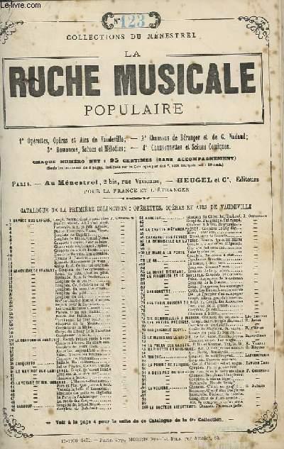 LA RUCHE MUSICALE POPULAIRE - N°123 : MIGNON - GUITARE ET CHANT.