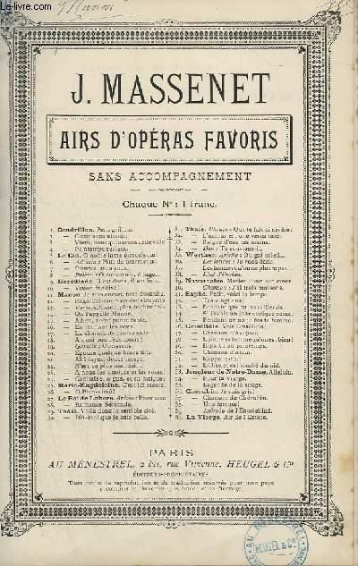 AIRS D'OPERAS FAVORIS - N°16 : EN FERMANT LES YEUX.