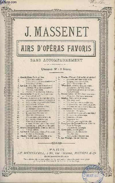 AIRS D'OPERAS FAVORIS - N°38 : LIED D'OSSIAN.