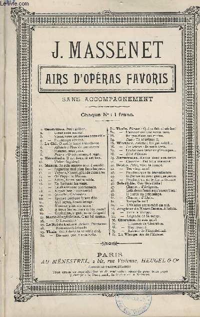 AIRS D'OPERAS FAVORIS - N°35 : ARIETTE DU GAI SOLEIL.