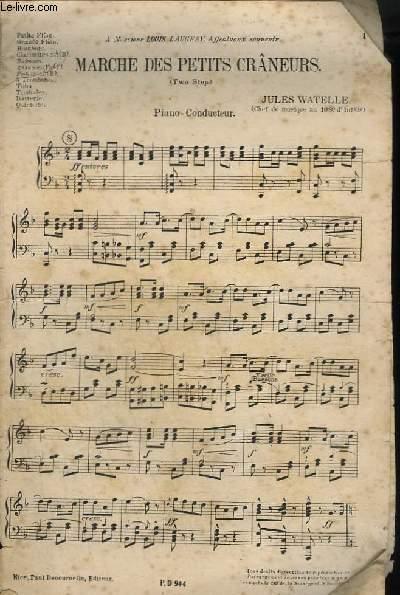 MARCHE DES PETITS CRANEURS - PIANO CONDUCTEUR.