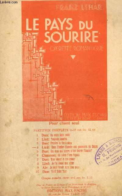 LE PAYS DU SOURIRE N°4 : DANS L'OMBRE BLANCHE DES POMMIERS EN FLEURS - CHANT.