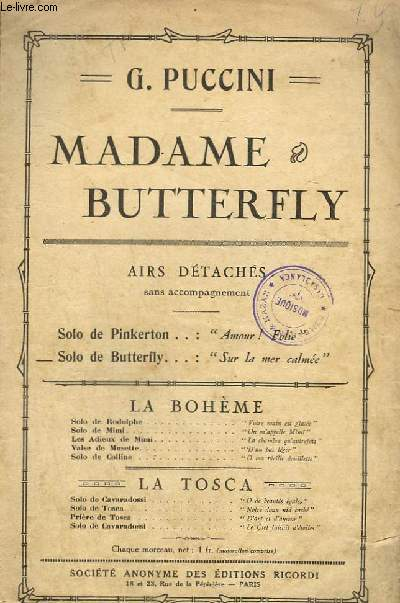 MADAME BUTTERFLY - CHANT.