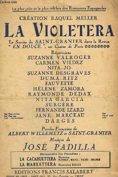 LA VIOLETERA - CHANT.