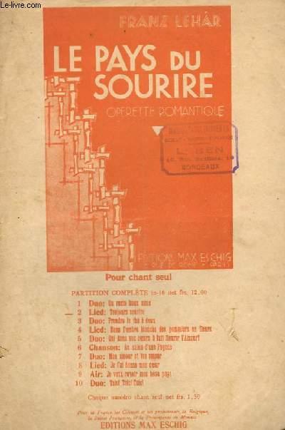 LE PAYS DU SOURIRE N°2 : TOUJOURS SOURIRE - CHANT.