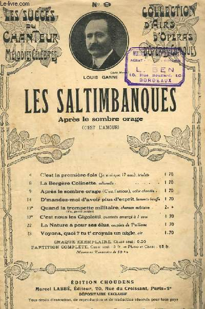 LES SALTIMBANQUES - CHANT.