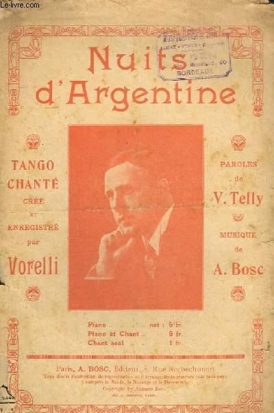 NUITS D'ARGENTINE - CHANT.