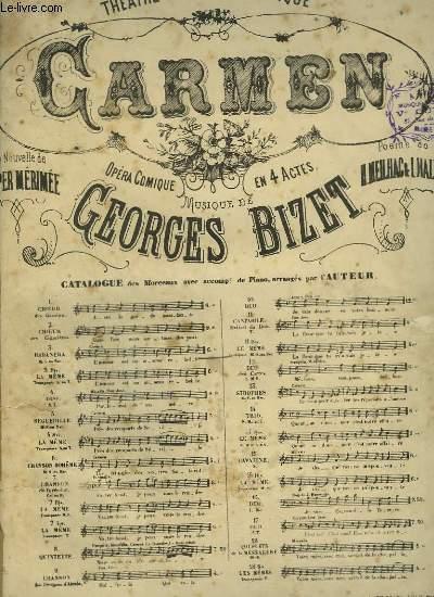 CARMEN - N°3 : HABANERA - PIANO ET CHANT.