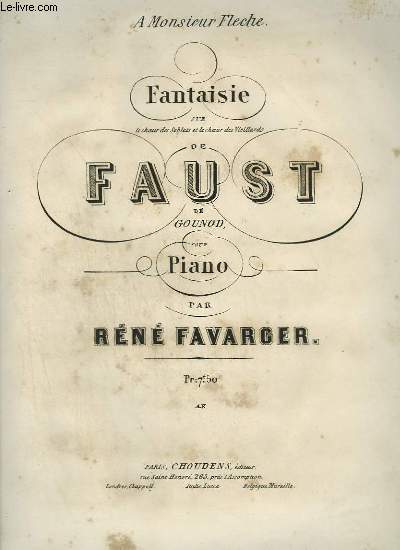 FANTAISIE DE FAUST - POUR PIANO.