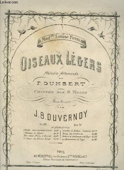 OISEAUX LEGERS - MELODIE ALLEMANDE POUR LE PIANO.