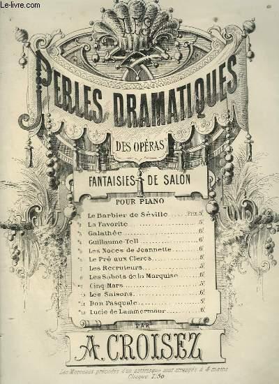PERLES DRAMATIQUES - FANTAISIE DE SALON N°5 : LES NOCES DE JEANNETTE.