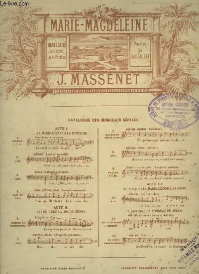MARIE MAGDELEINE - N°2 : AIR POUR CHANT ET PIANO.