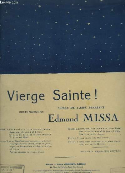 VIERGE SAINTE ! - PRIERE DE L'ABBE PERREYVE - TON ORIGINAL - PIANO ET CHANT + VIOLON ET CHANT.
