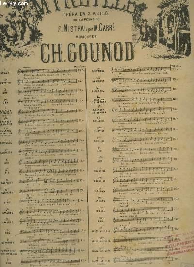 MIREILLE - N° 3 : CHANSON DE MAGALIE - PIANO ET CHANT A DEUX VOIX.
