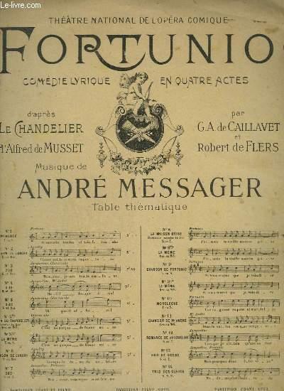 FORTUNIO - N°8 : LA MAISON GRISE - PIANO ET CHANT.
