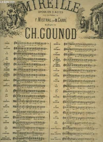 MIREILLE - N°3 : CHANSON DE MAGALI - PIANO ET CHANT A 2 VOIX.