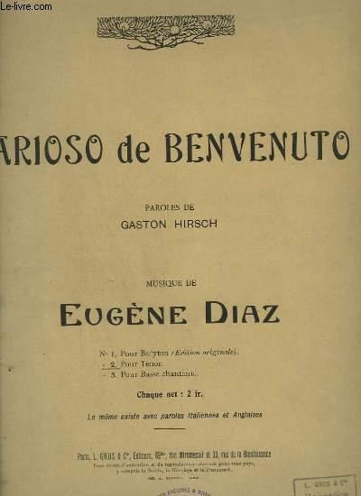 ARIOSO DE BENVENUTO - N°5 BIS : ARIOSO -  PIANO + CHANT TENOR.