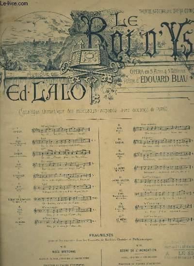 LE ROI D'YS - N°11 : AUBADE - PIANO ET CHANT.