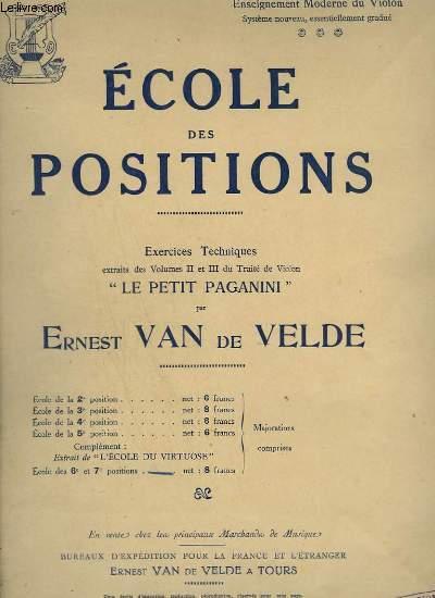 ECOLE DES POSITIONS - LA 7° POSITION - POUR VIOLON.