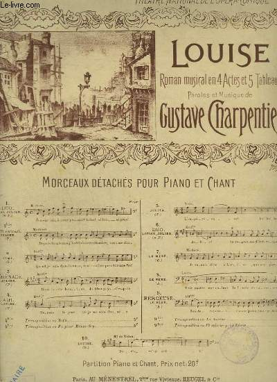 LOUISE - N°4 TER - PIANO ET CHANT MEZZO SOPRANO.
