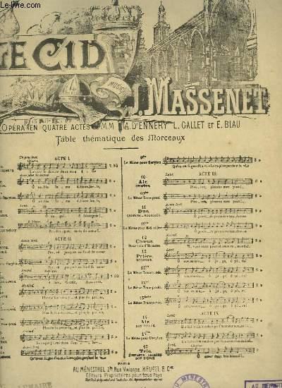 LE CID - N°10 BIS : AIR DE CHIMENE - PIANO ET CHANT.